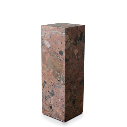 Stage Marble Plinth - Rosa Marble