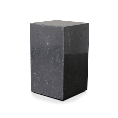 Stage Marble Side Table Tall - Black Marble