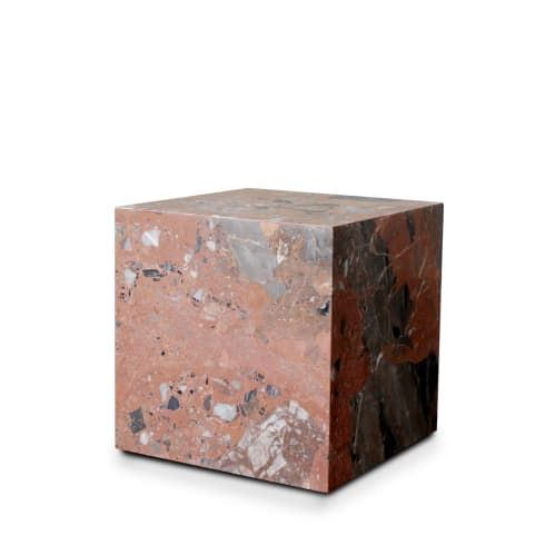 Stage Marble Side Table Low - Rosa Marble