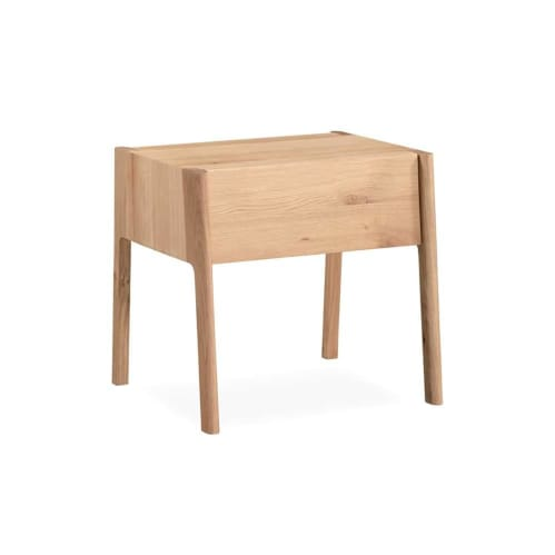 Tilt Bedside Table - Oak