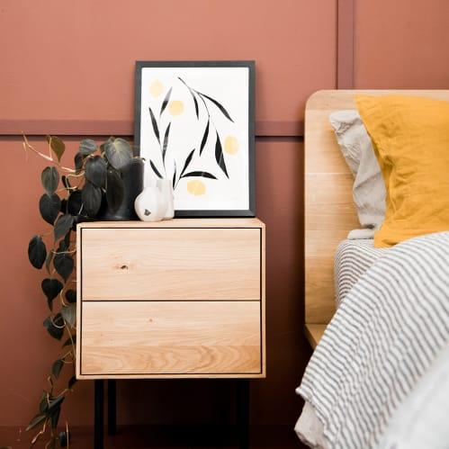 Essence Bedside Table - Oak