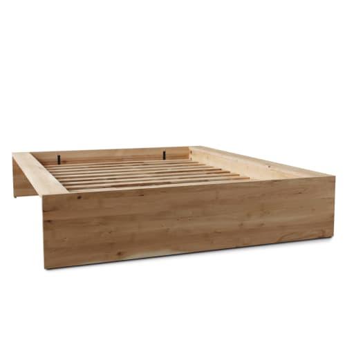 Slice Queen Bed Base - Oak