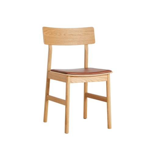 Pause Dining Chair 2.0 - Oiled Oak/Cognac leather