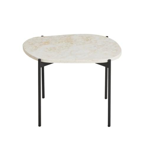 La Terra Large Side Table - Travertine