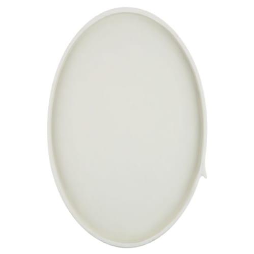 Burlap Round Tray Large - White