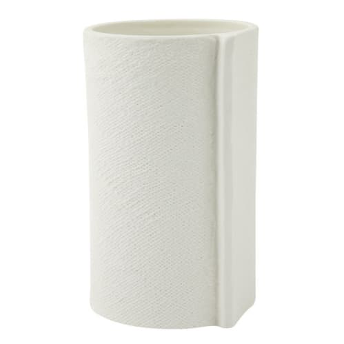 Burlap Vase Small - White