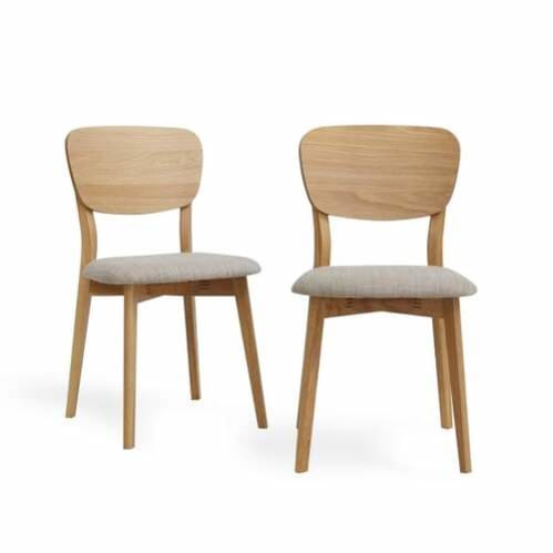 Set of 2 Linden Contemporary Timber Back Dining Chair