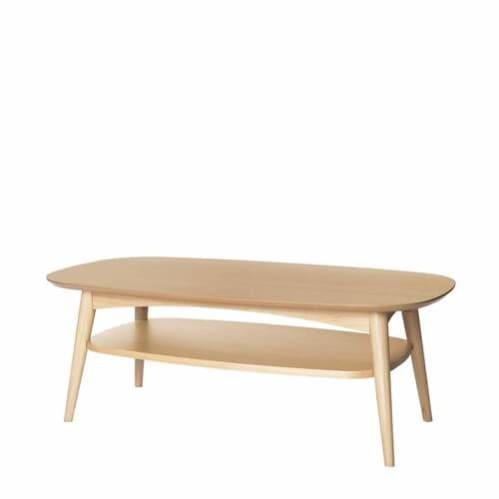 Mia Coffee Table with Shelf - Oak