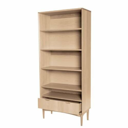 Mia Wide Bookcase - Oak