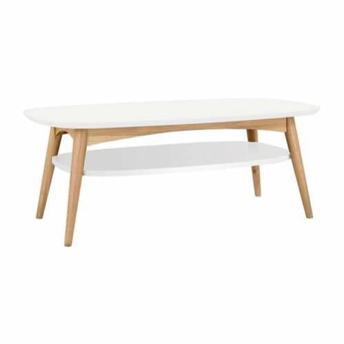 Mia Dual Tone Coffee Table with Shelf