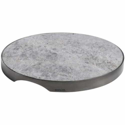 Geo Round Grazing Board - Black Nickel & Grey Tundra