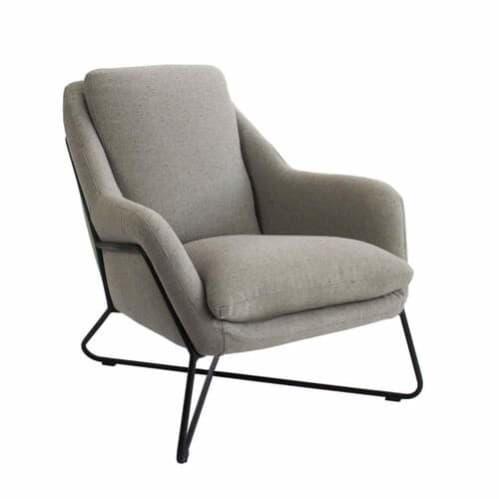 Tribeca Chair - Woli Grey / Black Leg