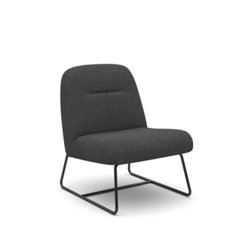 Puffy Lounge Chair - Charcoal
