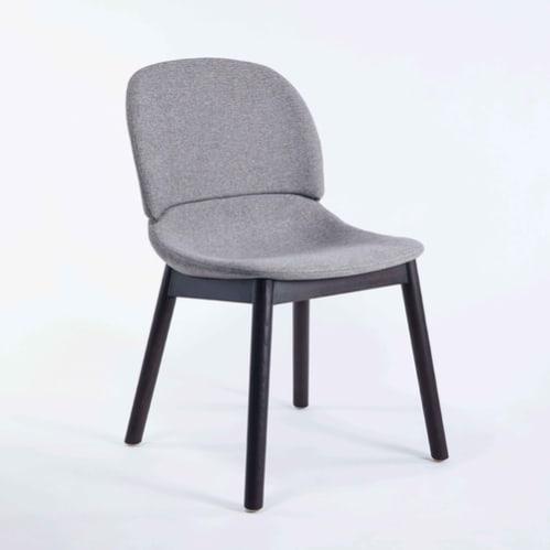 Hug Dining Chair - Beige / Black