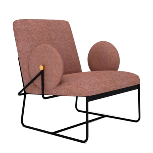 Long Lounge Chair - Red