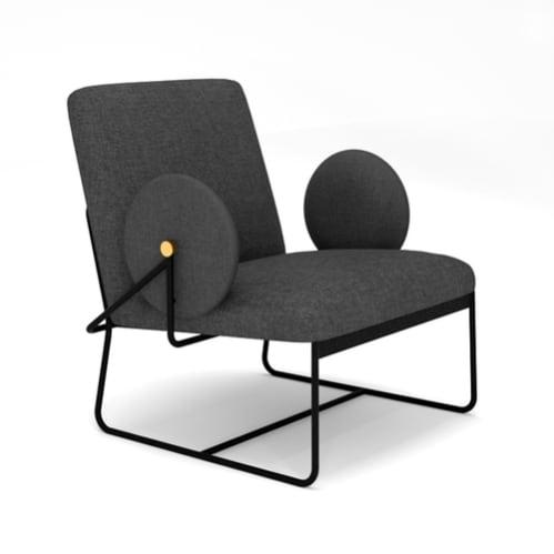 Long Lounge Chair - Charcoal