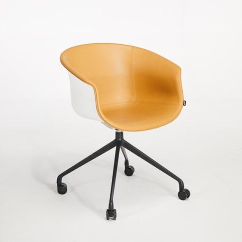 Queen Office Chair -  Pu / White / Black