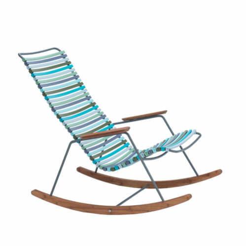 Click Outdoor Rocking Chair - Multi-colour Blue Stripe