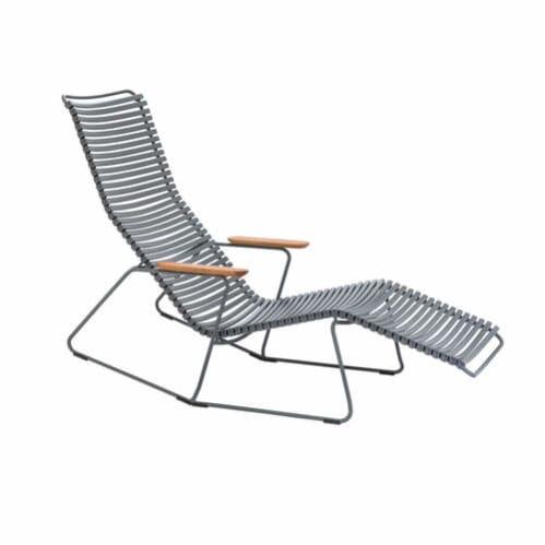 Click Outdoor Sun Lounge - Dark Grey