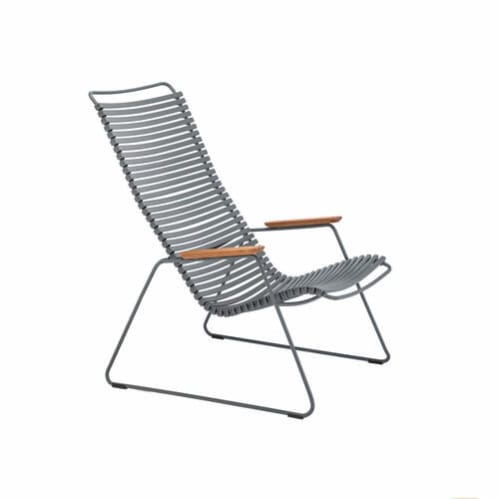 Click Outdoor Lounge Chair -  Dark Grey