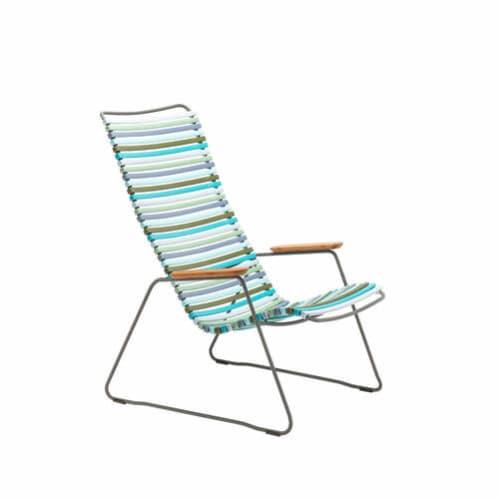 Click Outdoor Lounge Chair - Multi-colour Blue Stripe