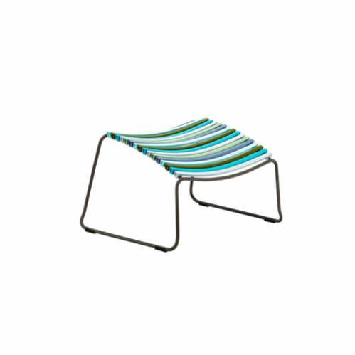 Click Outdoor Footrest - Multi-colour Blue Stripe
