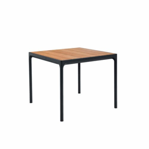 Four Outdoor Dining Table 90cm - Bamboo/Black