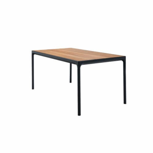 Four Outdoor Dining Table 160cm - Bamboo/Black