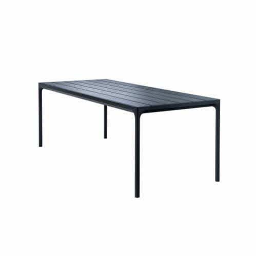 Four Outdoor Dining Table 210cm - Black