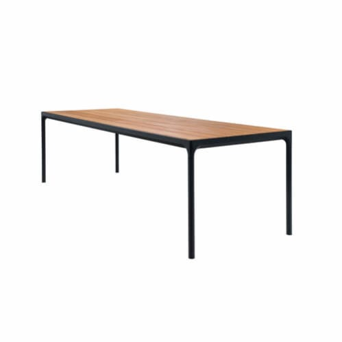 Four Outdoor Dining Table 270cm - Bamboo/Black