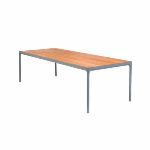 Four Outdoor Dining Table 270cm - Bamboo/Dark Grey