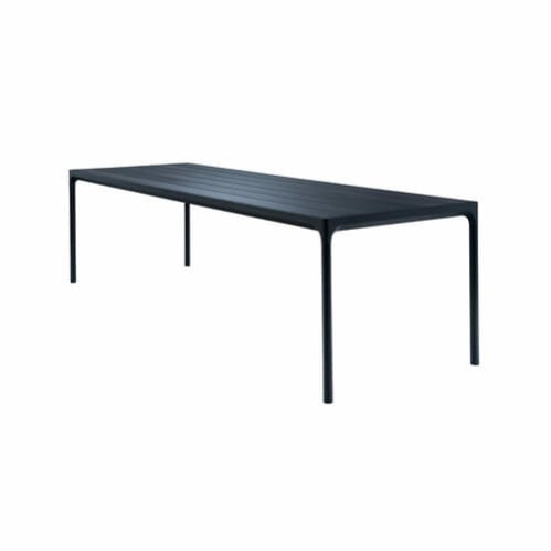 Four Outdoor Dining Table 270cm - Black