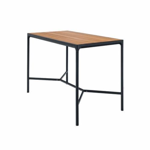 Four Outdoor Bar Table 160cm - Bamboo/Black