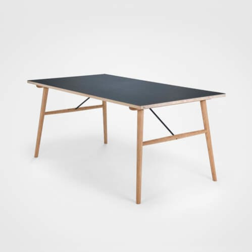 Hekla Dining Table 208cm - Black/Oak