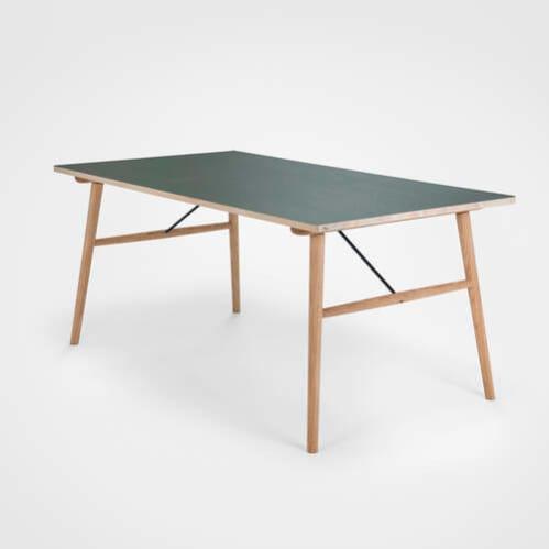 Hekla Dining Table 208cm - Green/Oak