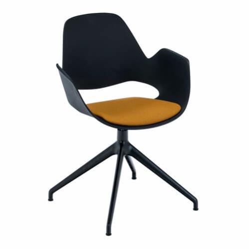 Falk Office Chair W Swivel Base - Black/Dark Yellow
