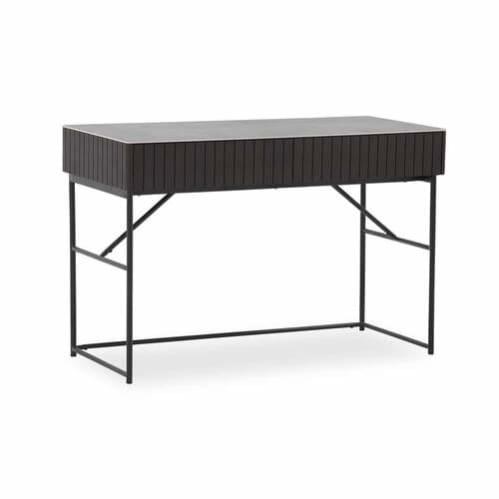 Colby Desk - Ceramic / Smoke Ash