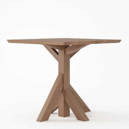 Ki Square Dining Table 80cm Teak