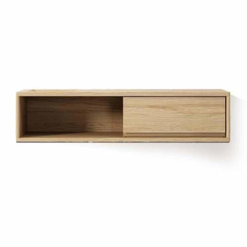 Circa Hanging Cabinet W/ Drawer And Niche - Oak