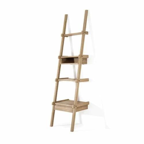 Simply City Ladder Shelves w/Drawer & Niche - Oak