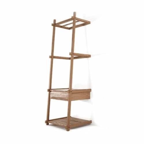 Simply City Ladder Standing Hanger W/Drawers & Shelves - Teak