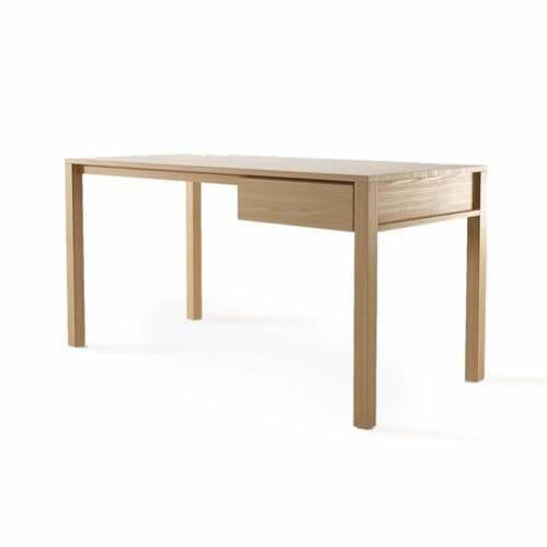 Solid Office Desk - Oak