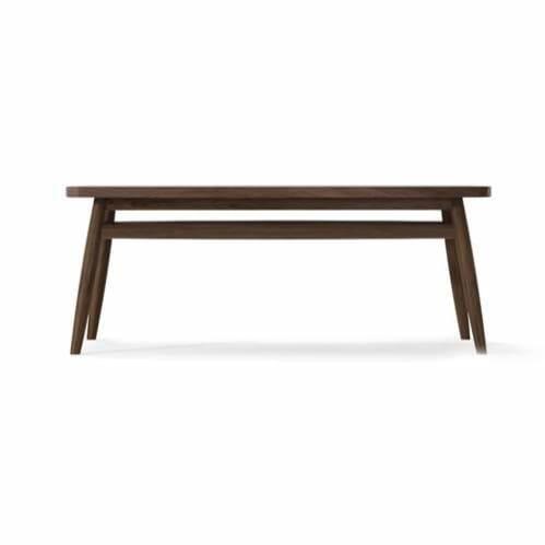 Twist Coffee Table 100cm - Walnut