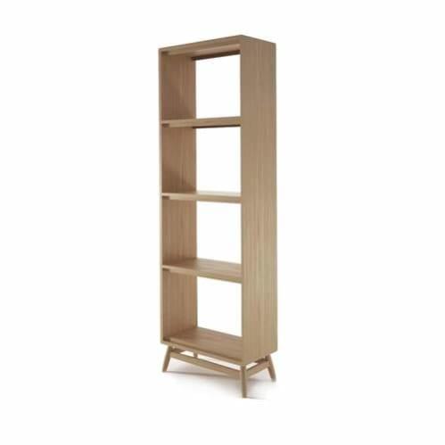 Twist Open Bookcase - Oak