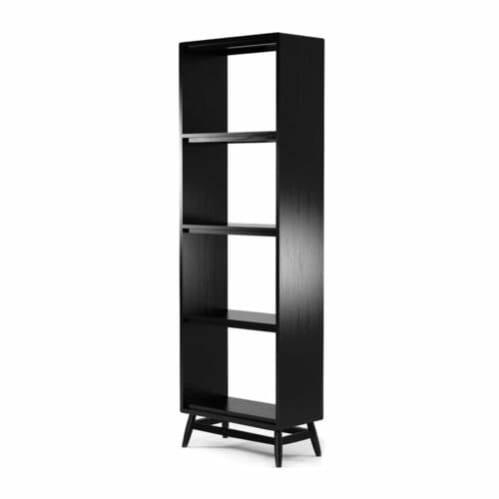 Twist Open Bookcase - Satin Black