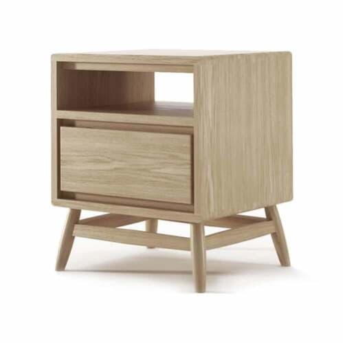 Twist Side Table - Oak