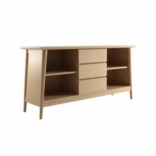 Vintage Sideboard 4 Shelves & 3 Drawers - Oak
