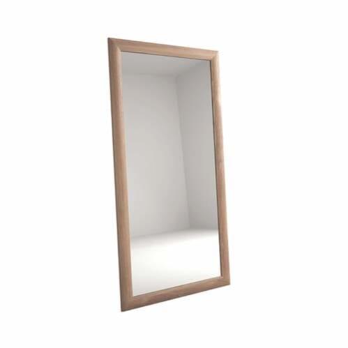 Vintage Oak Floor Mirror - Teak