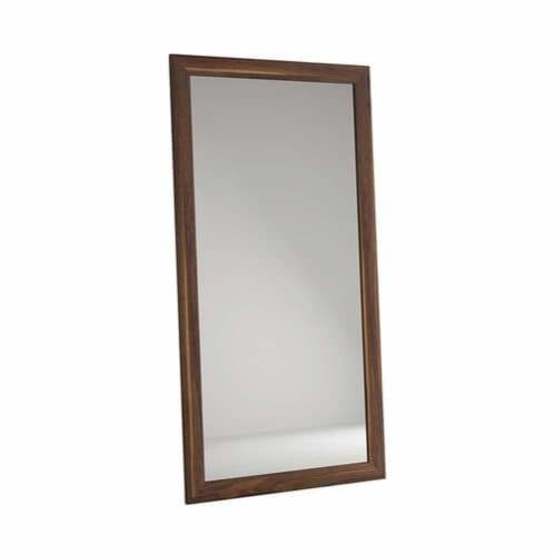 Vintage Oak Floor Mirror - Walnut