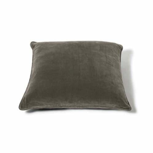 Square Velvet Cushion - Olive